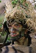 Member of the Light Infantry at the Sir John Moore Barracks, Winchester, UK
