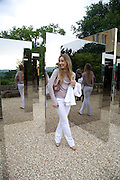 KASIA ZAJKOWSKA NEXT TO JEPPE HEIN'S 'SIMPLIFIED MIRROR LABRINTH 1, 2008. , The Artists' Playground. Reconstruction 3: Contemporary Art at Sudeley Castle, 2008 In partnership with Phillips de Pury & Company and supported by Chanel. 31 May 2008. *** Local Caption *** -DO NOT ARCHIVE-© Copyright Photograph by Dafydd Jones. 248 Clapham Rd. London SW9 0PZ. Tel 0207 820 0771. www.dafjones.com.