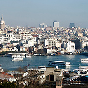 A General Views of the Istanbul. Galata tower in the background. Photo by TURKPIX