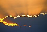 Sun rays through the clouds - Jordan
