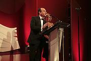 Armando Iannucci and Mariella Frostrup,  Costa Book Awards 2006. Grosvenor House Ballroom. Park Lane, London. 7 February 2007. -DO NOT ARCHIVE-© Copyright Photograph by Dafydd Jones. 248 Clapham Rd. London SW9 0PZ. Tel 0207 820 0771. www.dafjones.com.
