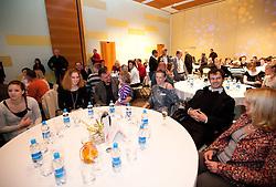 Barbara Spiler, Vlado Kevo, Sonja Roman Uros Zager during the Slovenia's Athlete of the year award ceremony by Slovenian Athletics Federation AZS, on November 12, 2008 in Hotel Mons, Ljubljana, Slovenia.(Photo By Vid Ponikvar / Sportida.com) , on November 12, 2010.