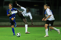 Dario Smitran of Gorica and Uzeh Edafe of Hibernians during 2nd match of 1st round Intertoto Cup soccer match between ND Gorica and Hibernians FC at Sports park, on June 28,2008, in Nova Gorica, Slovenia. (Photo by Vid Ponikvar / Sportal Images)