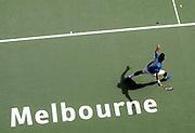 Roger Federer vs. Jarkko Niminen on January-21-2005 during the australian open.<br />Photo by Siggi Bucher