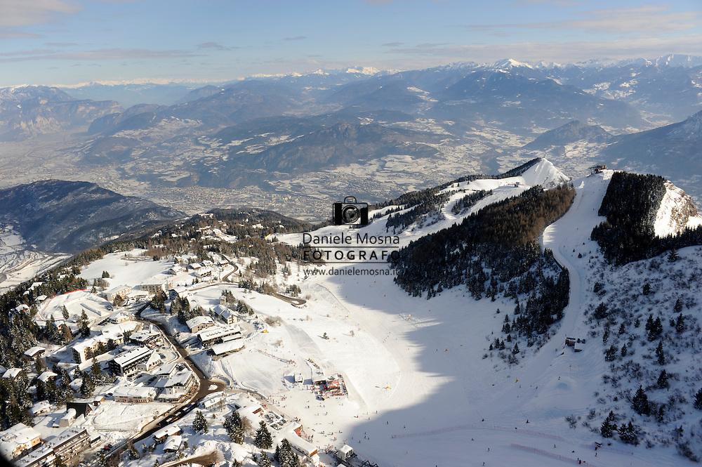 Tre cime del Monte Bondone, Trekking, Monte Cornetto, Doss D'Abramo, Cima Verde, viotte del Bondone,inverno con neve, © foto Daniele Mosna