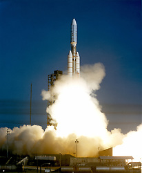 VOYAGER 1, ABOARD TITAN/CENTAUR-6 LIFTED OFF ON SEPTEMBER 5, 1977, JOINGING ITS SISTER SPACECRAFT, VOYAGER 2, ON A MISSION TO THE OUTER PLANETS.