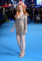Victoria Clay attending the Aquaman premiere held at Cineworld in Leicester Square, London.