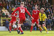 Burton Albion midfielder David Templeton (11) attacks the Accrington defence during the EFL Sky Bet League 1 match between Burton Albion and Accrington Stanley at the Pirelli Stadium, Burton upon Trent, England on 23 March 2019.