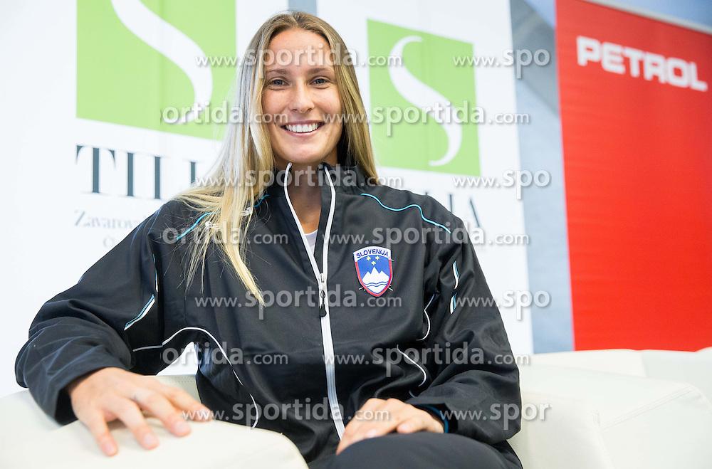 Polona Hercog during press conference of Slovenian women Tennis team before Fedcup tournament in Tallinn, Estonia, on January 28, 2015 in Kristalna palaca, Ljubljana, Slovenia. Photo by Vid Ponikvar / Sportida