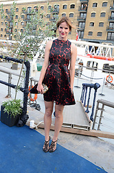The Johnnie Walker Blue Label and David Gandy Drinks Reception aboard John Walker & Sons Voyager, St.Georges Stairs Tier, Butler's Wharf Pier, London, UK on 16th July 2013.<br /> Picture Shows:-Kate Sumner.
