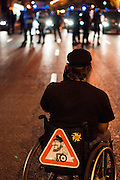 Thousands of protesters clashed violently with riot police in Madrid on Tuesday over the announcement of severe austerity measures.<br /> Madrid,Spain 2012.