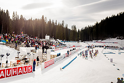 Venue during Single Mixed Relay at day 1 of IBU Biathlon World Cup 2018/19 Pokljuka, on December 2, 2018 in Rudno polje, Pokljuka, Pokljuka, Slovenia. Photo by Ziga Zupan / Sportida