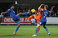 AFC Wimbledon midfielder Tom Soares (19) battles for possession during the EFL Sky Bet League 1 match between AFC Wimbledon and Southend United at the Cherry Red Records Stadium, Kingston, England on 24 November 2018.