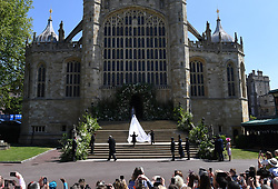 Meghan Markle arrives at St George's Chapel in Windsor Castle for her royal wedding ceremony to Britain's Prince Harry, in Windsor, Britain, 19 May 2018, Photo by Neil Hall / ABACAPRESS.COM