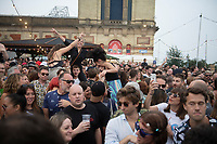 festival goes parting with Norman Jay MBE  AT 'LONDON'S FIRST FESTIVAL THIS SUMMER KALEIDOSCOPE TAKES PLACE AT ALEXANDRA PALACE,PHOTO BY BRIAN JORDAN