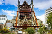 Christchurch Cathedral damaged in the 2011 earthquake, Canterbury, South Island, New Zealand