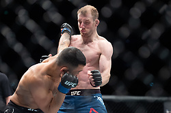March 16, 2019 - London, United Kingdom - Dan Ige beats Danny Henry by submission in the first round during UFC Fight Night 147 at the London O2 Arena, Greenwich on Saturday 16th March 2019. (Credit Image: © Mi News/NurPhoto via ZUMA Press)