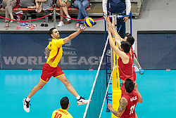 09.06.2017, TipsArena, Linz, AUT, FIVB, World League, Mexiko vs Spanien, Division III, Gruppe C, Herren, im Bild Sergio Noda Blanco (ESP) // Sergio Noda Blanco (ESP) during the men's FIVB, Volleyball World League, Division III, Group C match between Mexico and Spain at the TipsArena in Linz, Austria on 2017/06/09. EXPA Pictures © 2017, PhotoCredit: EXPA/ JFK
