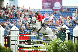De Luca Lorenzo, (ITA), Geisha van Orshof<br /> Team Competition round 1 and Individual Competition round 1<br /> FEI European Championships - Aachen 2015<br /> © Hippo Foto - Stefan Lafrentz<br /> 19/08/15