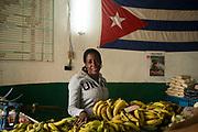Fruit seller in old havana, Cuba.