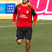 Galatasaray's players Juan Emmanuel CULIO during their training session at the Jupp Derwall training center, Thursday, January 20, 2011. Photo by TURKPIX