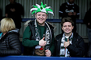 Plymouth fans before the EFL Sky Bet League 1 match between AFC Wimbledon and Plymouth Argyle at the Cherry Red Records Stadium, Kingston, England on 26 December 2018.