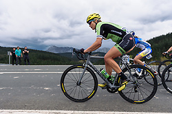 Alison Tetrick leads the peloton on lap two - Emakumeen Saria - Durango-Durango 2016. A 113km road race starting and finishing in Durango, Spain on 12th April 2016.