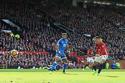 4th March 2017 - Premier League - Manchester United v Bournemouth - Marcos Rojo of Man Utd scores their 1st goal - Photo: Simon Stacpoole / Offside.