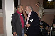 John Standing and Hugh Whitemore. Dancing To the Music of Time- The Life and Work of Anthony Powell. The Wallace Collection. Manchester Sq. London. November 2, 2005 in London,. ONE TIME USE ONLY - DO NOT ARCHIVE © Copyright Photograph by Dafydd Jones 66 Stockwell Park Rd. London SW9 0DA Tel 020 7733 0108 www.dafjones.com