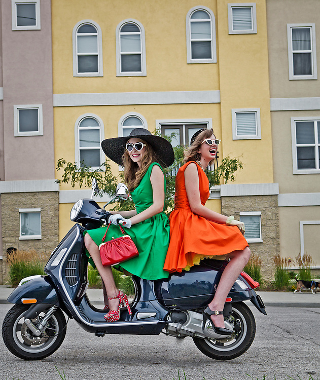 24 July 2011- Nicole and Cathrine are photographed at various locations for Omaha Fashion Week.