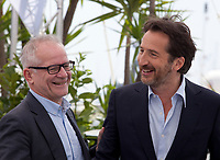 Edouard Baer, Master of the Opening and Closing Ceremonies and Festival Director Thierry Fremaux at the 71st Cannes Film Festival Tuesday 8th May 2018, Cannes, France. Photo credit: Doreen Kennedy