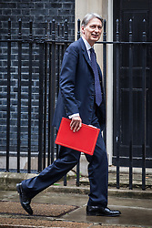 © Licensed to London News Pictures. 02/08/2016. London, UK. The Chancellor of The Exchequer Philip Hammond arrives on Downing Street for a meeting of the Cabinet Committee on Economy and Industrial Strategy. Photo credit: Rob Pinney/LNP