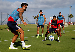 Marlon Pack, Josh Brownhill, Aiden Flint and Korey Smith of Bristol City train - Mandatory by-line: Matt McNulty/JMP - 20/07/2017 - FOOTBALL - Tenerife Top Training Centre - Costa Adeje, Tenerife - Pre-Season Training