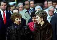 A 30 MG IMAGE OF:..Nancy Reagan and Raisa Gorbachev in December of 1987...Photo by Dennis Brack R F
