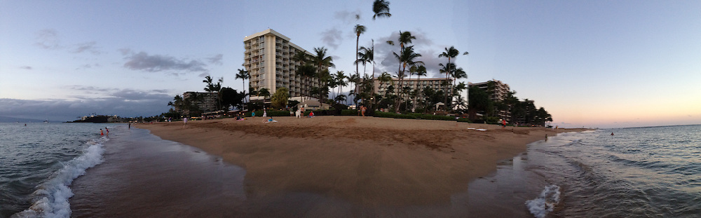 Ka'anapali Beach (Panorama), Westin Maui, Maui, Hawaii, US