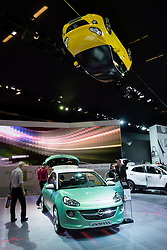 New Adam compact car by Opel on display at Paris Motor show 2012