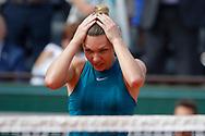 Simona HALEP (ROU) won the women tournament, celebration during the Roland Garros French Tennis Open 2018, Final Women, on June 9, 2018, at the Roland Garros Stadium in Paris, France - Photo Stephane Allaman / ProSportsImages / DPPI