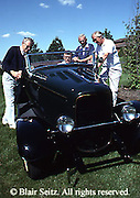 Active Aging Senior Citizens, Retired, Activities, Elderly Men and Antique Car