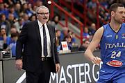 Romeo Meo Sacchetti<br /> Nazionale Italiana Maschile Senior  - Italia Italy <br /> 2021 FIBA 2021 Eurobasket Qualifiers<br /> FIP 2020<br /> Napoli, 20/02/2020<br /> Foto G.Pappalardo/ Ciamillo - Castoria