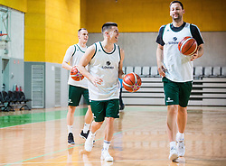 Matic Rebec and Sasa Zagorac during practice session of Slovenian National basketball team before FIBA Basketball World Cup China 2019 Qualifications against Belarus, on November 20, 2017 in Arena Stozice, Ljubljana, Slovenia. Photo by Vid Ponikvar / Sportida