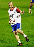 Spain's David Jimenez Silva during training session. October 5,2017.(ALTERPHOTOS/Acero)