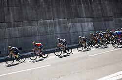 Christopher Juul Jensen (DEN) of Orica - Scott, Jon Ander Insausti Irastorza (ESP) of Bahrain-Merida, Aleksejs Saramotins (LAT) of Bora - Hansgrohe during last Stage 4 of 24th Tour of Slovenia 2017 / Tour de Slovenie from Rogaska Slatina to Novo mesto (158,2 km) cycling race on June 18, 2017 in Slovenia. Photo by Vid Ponikvar / Sportida