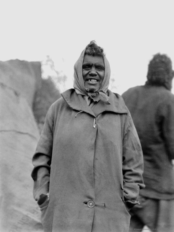 Smiling Aboriginal Woman at the Aboriginal Camp, Central Australia, 1930