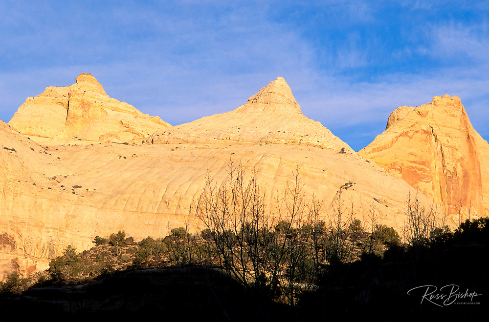 Morning light on Navajo Dome, Capitol Reef National Park, Utah