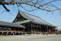 """Nishi Hongan-ji or the """"Western Temple of the Original Vow"""" is one of two temple complexes of Jodo Shinshu Buddhism in Kyoto, the other being Higashi Honganji (or """"The Eastern Temple of the Original Vow"""". Today it serves as the head temple of the Jodo Shinshu sect.  Nish Honganji is older than the Higashi Honganji and has more integral architecture. Together they are listed as Historic Monuments of Ancient Kyoto as also a UNESCO World Heritage Site."""