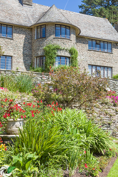 Coleton Fishacre, Kingswear, Devon, a 24-acre National Trust garden which stretches down a narrow valley to the sea at Pudcombe Cove.