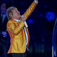 Singer Rod Stewart performs during the free for all Connection Concert in Budapest, Hungary. Saturday, 26. June 2010. ATTILA VOLGYI