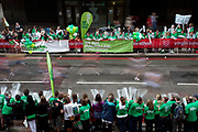 2010 Virgin London Marathon. Supporters of MacMillan Cancer Support.