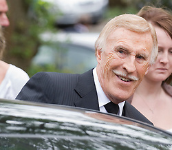 © licensed to London News Pictures. 18/05/2011. Tonbridge, UK. Bruce Forsyth at the funeral of heavyweight boxing legend Sir Henry Cooper at Corpus Christi Church in Lyons Crescent, Tonbridge, Kent today (18/05/2011).  Please see special instructions for usage rates. Photo credit should read Ben Cawthra/LNP