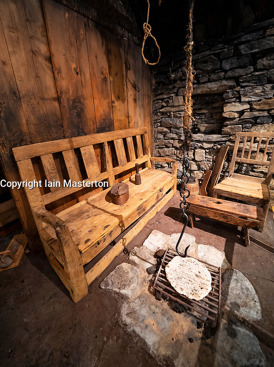 Display of old house interior at Shetland Museum in Lerwick, Shetland , Scotland, UK